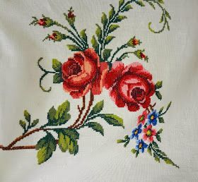 Little Treasures: Vintage Embroidered Tablecloth