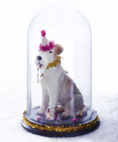 Naughty Christmas Terrier in glass dome kit