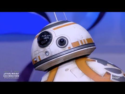 ▶ BB-8 droid from The Force Awakens rolls out on stage at Star Wars Celebration Anaheim - YouTube