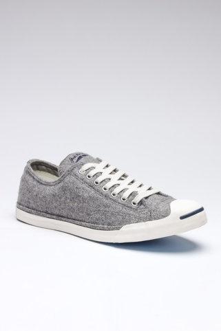 Grey plimsole