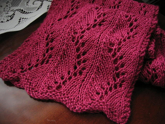 Lace Zig Zag Scarf Knitting Pattern : Zigzag lace scarf by mbknits via flickr knitting pinterest libraries and scarfs