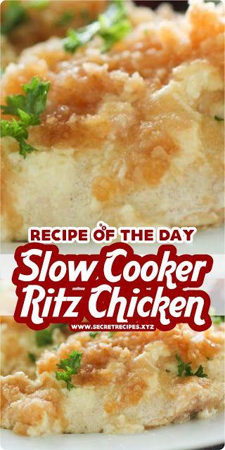 SLOW COOKER RITZ CHICKEN | SECRET RECIPES #chicken…