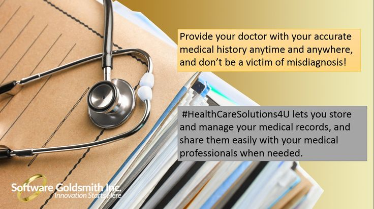Provide your doctor with your accurate medical history anytime and anywhere, and don't be a victim of misdiagnosis! #HealthCareSolutions4U lets you store and manage your medical records, and share them easily with your medical professionals when needed. Register today! https://www.healthcaresolutions4us.com/register.php