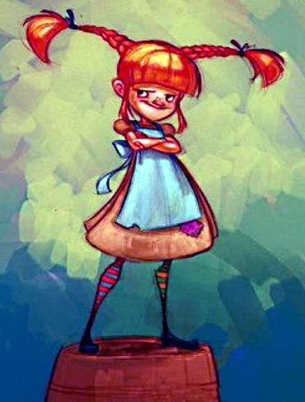 Вопрос 15. Один из самых моих любимых детских персонажей - Пеппи Длинный Чулок! Яркая, живая, озорная проказница