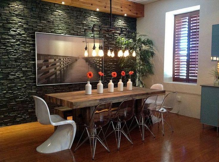 décoration intéressante de salle à manger moderne