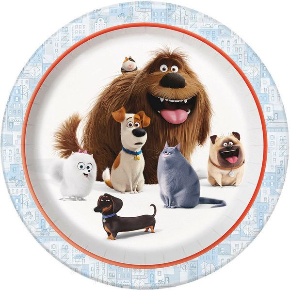 These adorable plates are durable and fun. They include all of the lovable pets from the new movie The Secret Life of Pets. Plates are 9 inches round. 8 per package. Also look for our cups and napkins