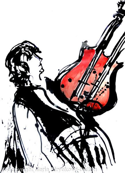 Jimmy Page (3) - Acrylic ink on paper