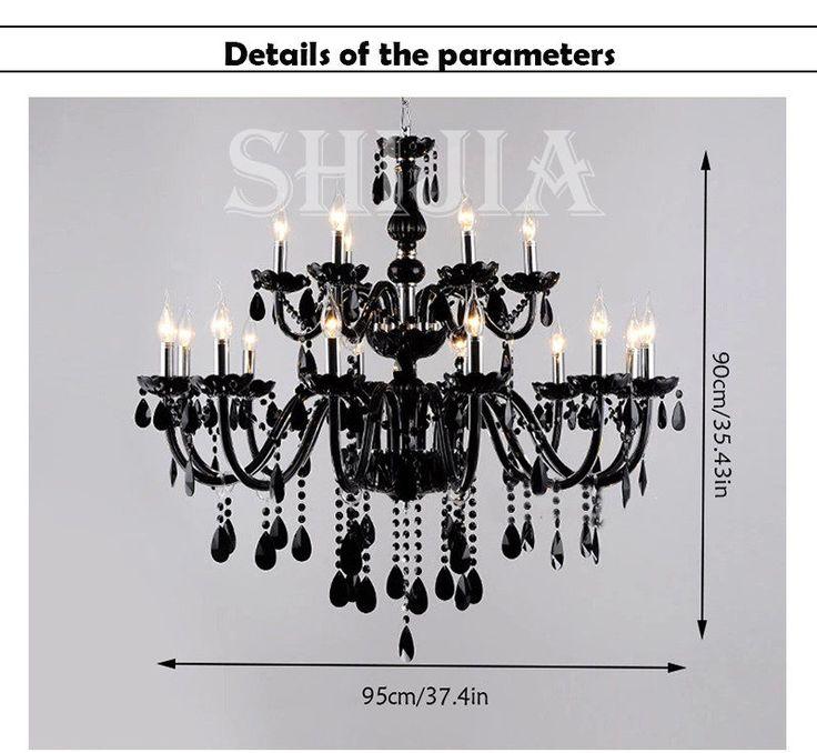 De 35 bsta black chandelier with crystals bilderna p pinterest aloadofball Image collections