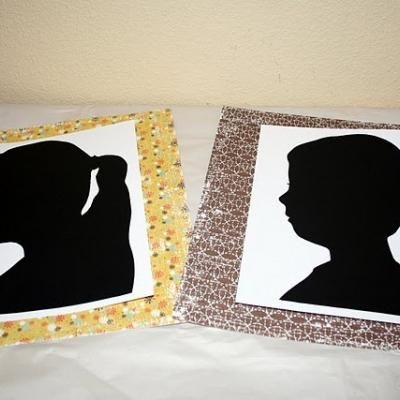 I've been wanting to try this for so long! DIY silhouettes, great for gifts or artwork.Black Painting, Photos Silhouettes, Diy Gift, Diy Silhouettes Lik, Cool Ideas, Handmade Gifts, Kindergarten, Crafts Diy, Easy Diy