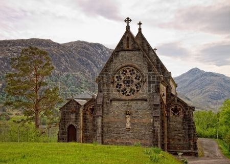 Medieval Church In Glenfinnan, Scotland.