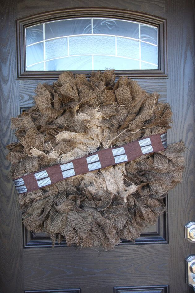 Star Wars inspired Chewbacca, character wreath, burlap wreath, home decor, party decor, room decor by ButteredBurlap on Etsy https://www.etsy.com/listing/257293199/star-wars-inspired-chewbacca-character
