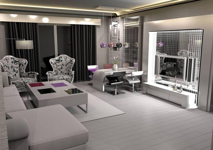 Feng Shui Uygulama : Modern Oturma Odası Meral Akçay