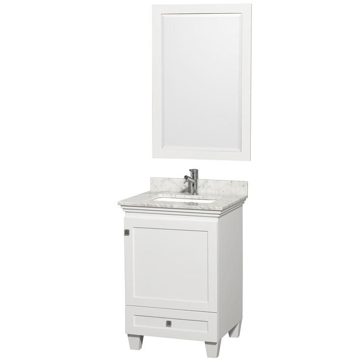 Acclaim White/ Carrera Marble 24 Inch Single Bathroom Vanity Set |  Overstock.com