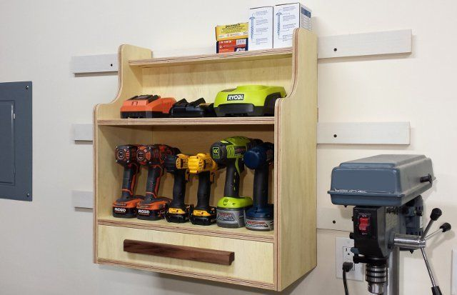Cordless Drill Charging Center Plans (Donations Appreciated)