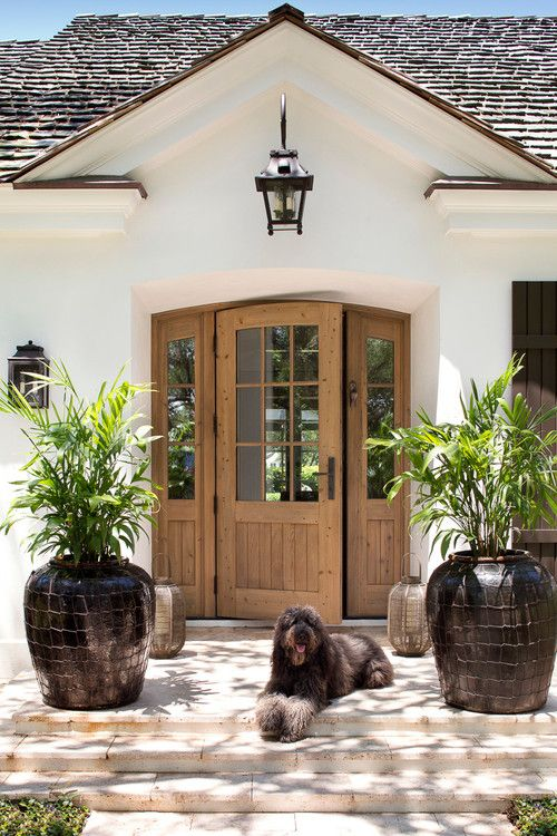 Love the door (and the dog). Vero Beach residence, Florida. Weaver Design Group.