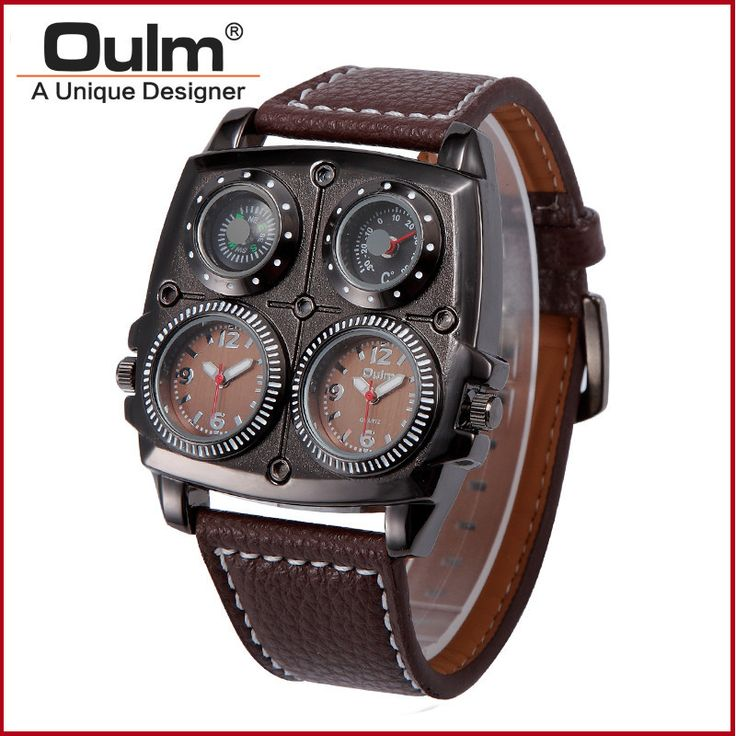 Halloween Funny Mens Watches Top Brand Luxury Men's Wrist Watches Large Square Leather Strap Male Wristwatch Relojes Hombre
