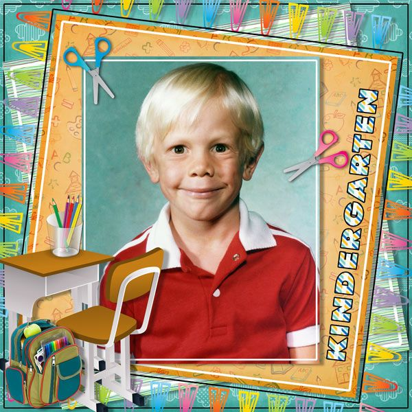 Kindergarten by Tbear. Kit used: S is for School http://scrapbird.com/designers-c-73/k-m-c-73_516/myst-designs-c-73_516_557/s-is-for-school-kit-p-16791.html