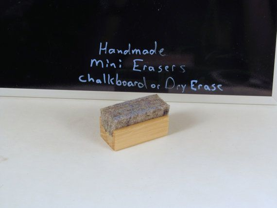 Mini Chalkboard Eraser Handmade Mini by PhotographyByRoger on Etsy