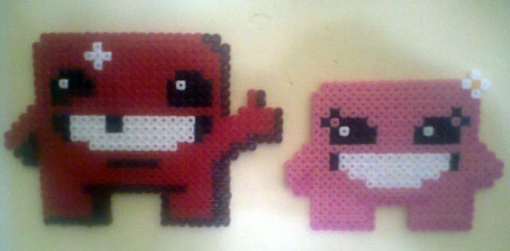 Meat Boy <3 Bandage Girl, from Super Meat Boy