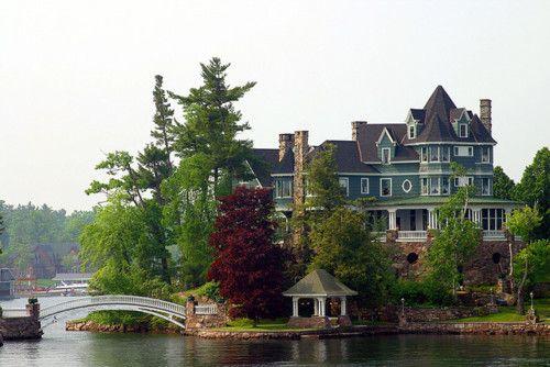 Awesome houseLake Houses, Lakes House, Beautiful, Future House, Dreams House, Castles, Victorian, The Bridges, Dream Houses