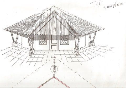a simple bamboo bungalow
