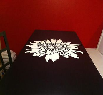 our diy dining table is almost done the stencil was the