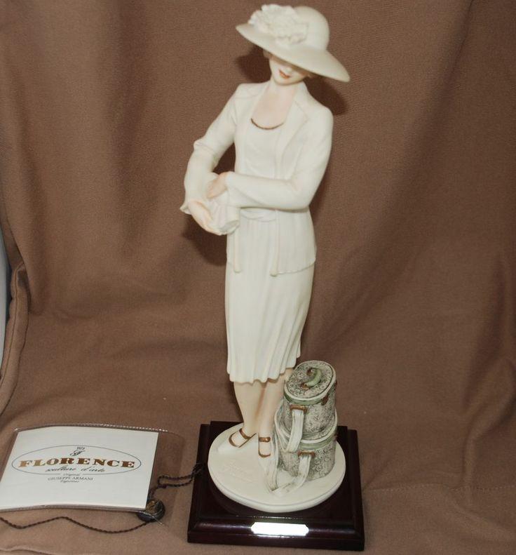 """Giuseppe Armani collectible figurine - Damina con cappelliere - """"Mabel"""" 0691F"""