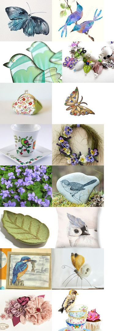 Sights and Sounds of Spring by Mary Lou on Etsy--Pinned with TreasuryPin.com