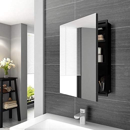 Elegant Illuminated Bathroom Mirror Cabinet With Lights And Shaver Socket Wall Mounted Led Bathroom Mirr Mirror Cabinets Bathroom Wall Storage Elegant Bathroom