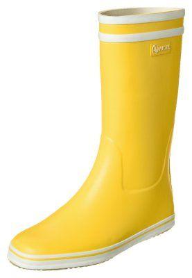 Regenlaarzen Aigle MALOUINE - Regenlaarzen - jaune/blanc Geel: 59,95 € Bij Zalando (op 4/01/15). Gratis verzending & retournering, geen minimum bestelwaarde en 100 dagen retourrecht!