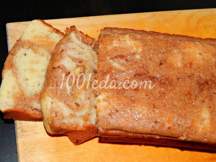 Мраморный кекс с грецким орехом: рецепт с пошаговым фото