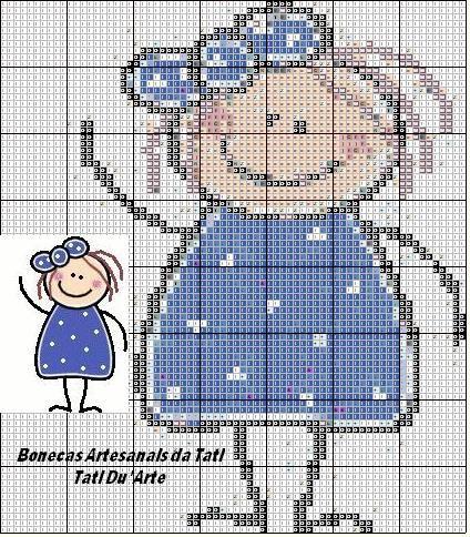 Boneca palito azul | Flickr - Photo Sharing!