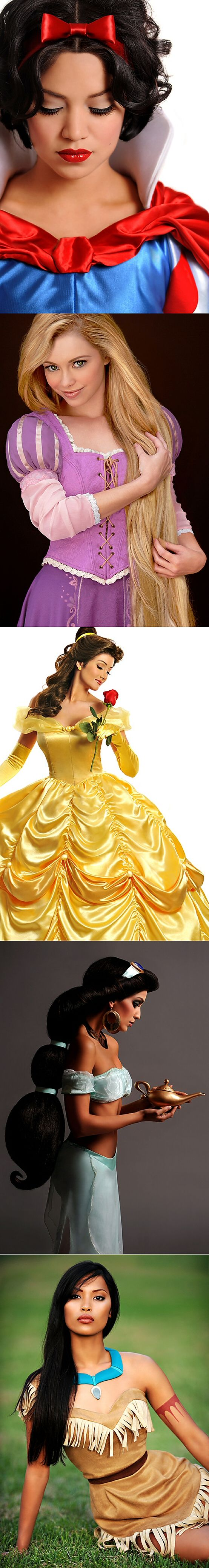 The Real Disney Princesses = Awesome Cosplay CAN I BE A DISNEY PRINCESS ALREADY??????? PLEASE??????