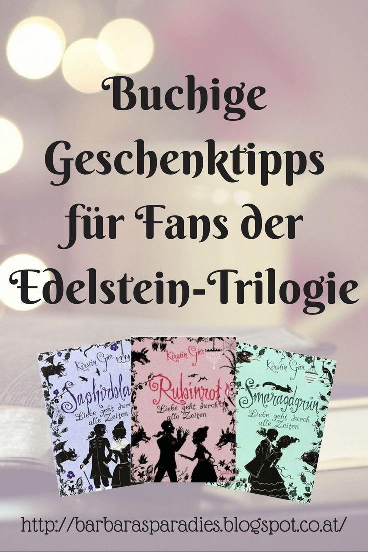 Buchige Geschenktipps für Fans der Edelstein-Trilogie Ihr sucht ein Geschenk für Fans der Edelstein-Trilogie von Kerstin Gier? Auf meinem Blog findet ihr 5 Lesetipps, mit denen ihr Lesefreude schenken könnt!