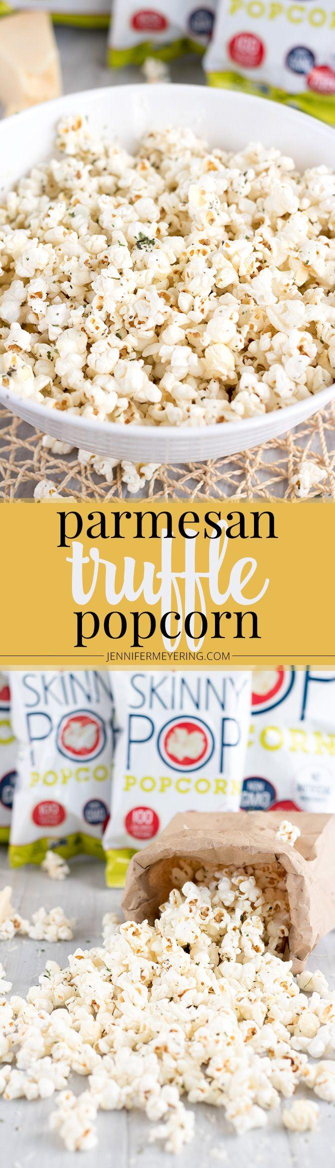 Parmesan Truffle Popcorn - JenniferMeyering.com