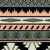 Art deco stripes - salmon by ravynka,