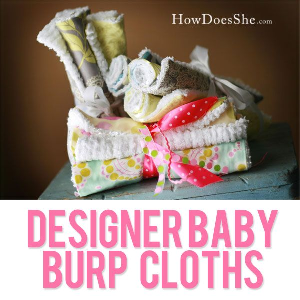 Gorgeous Designer Baby Burp Cloths Tutorial! These are my favorite to make for new moms and baby showers! #sewing #giftidea