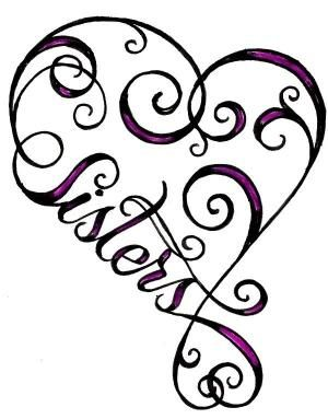 heart sister tattoo | Tattoo Ideas Central @S. Fernandez can we please get matching tattoos? by Rebecca Niswonger