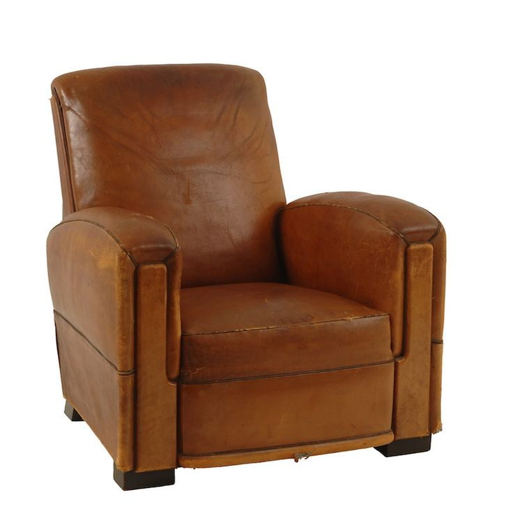 McGuire Leather Chair at Found Vintage Rentals. Distressed ...