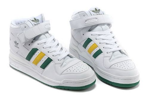 f6274a8e8b9 Adidas Forum Mid Womens & Mens (unisex) White Green Yellow Promo ...