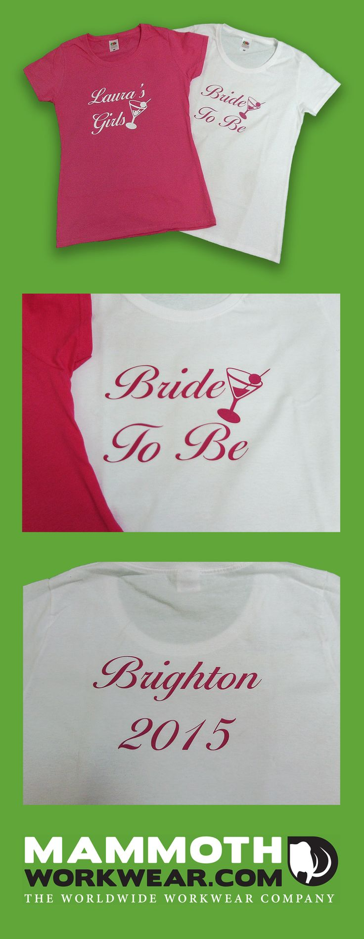 We don't just do printing for workwear. Have you ever considered personalised T-shirts for that special event, party or holiday? It's a simple but effective way of adding a bit of extra fun!