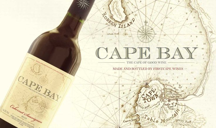 Illustration integrated into label design for the CapeBay range of wines.