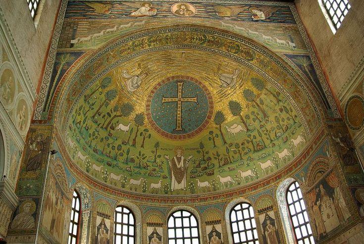 Basílica de San Apolinar in Classe. Detalle de los mosaicos del ábside.