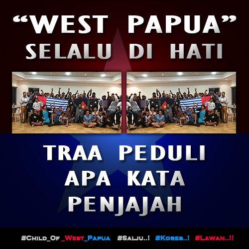 WEST PAPUA SELALU DI HATI, TRAA PEDULI APA KATA PENJAJAH..!! http://bit.ly/1AKQ6Bh  #Free_West_Papua #Salju #Kores #Lawan