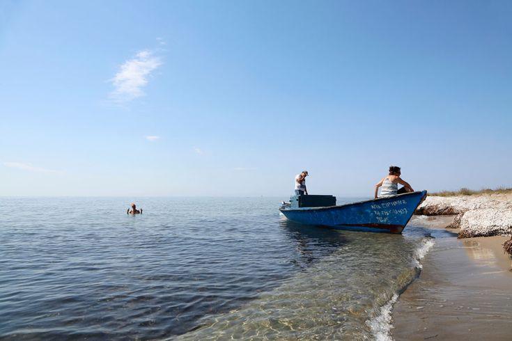 Verkoelende dip in de Ionische zee.