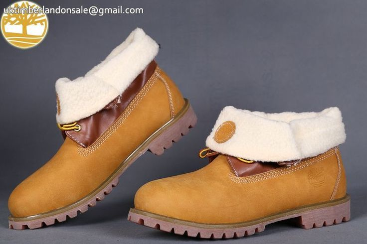 Custom Fur Timberland Roll Top Wheat Men Toe Leather Winter Boot $95.99