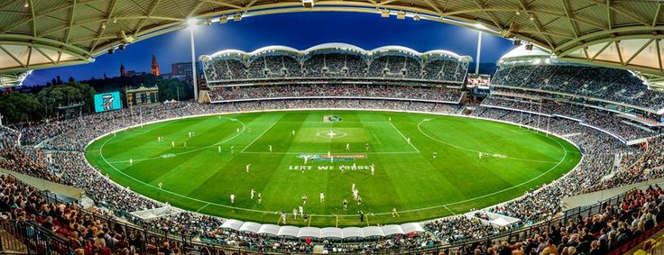 The beautiful, refurbished Adelaide Oval.  Port vs Geelong 27.4.14  www.portadelaide.com.au