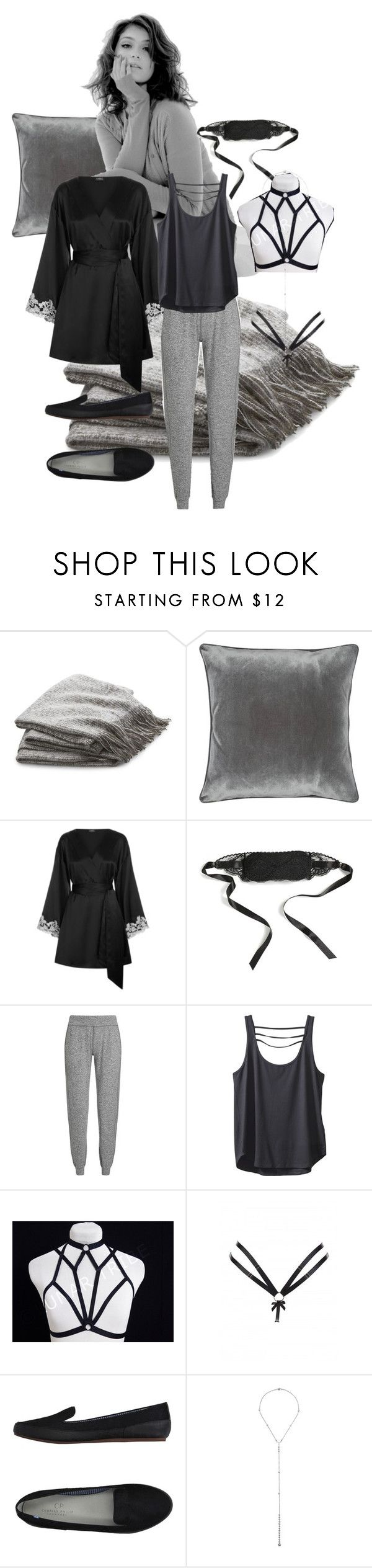 """Nadiya - Pajama Party"" by shelbywyatt on Polyvore featuring Crate and Barrel, M&Co, L'Agent By Agent Provocateur, Sweaty Betty, Kavu, Dessous, Bordelle, Charles Philip Shanghai and Eddie Borgo"