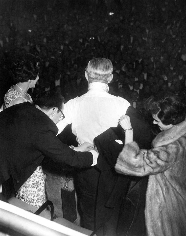 FORTY-FOURTH INAUGURAL CEREMONIES - Joseph P. Kennedy Sr. and Rose Kennedy at Inaugural Ball.