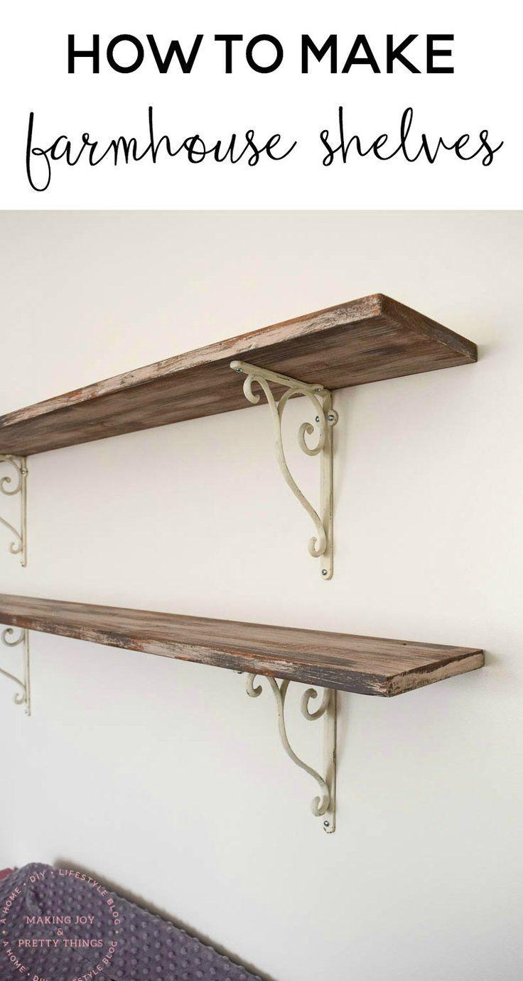 how to make farmhouse style shelves